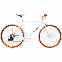 ruderberna【sunny-black】unique-shimano-5-+-1-sunny-orange-city-bike