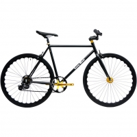 ruderberna【sunny-black】unique-shimano-5-+-1-black-gold-city-bike