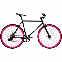 ruderberna【sunny-black】unique-shimano-5-+-1-black-pink-city-bike