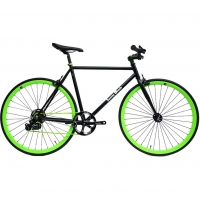 ruderberna【sunny-black】unique-shimano-5-+-1-black-green-city-bike