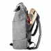 WHALEDON Simple Unisex Backpack - Grey